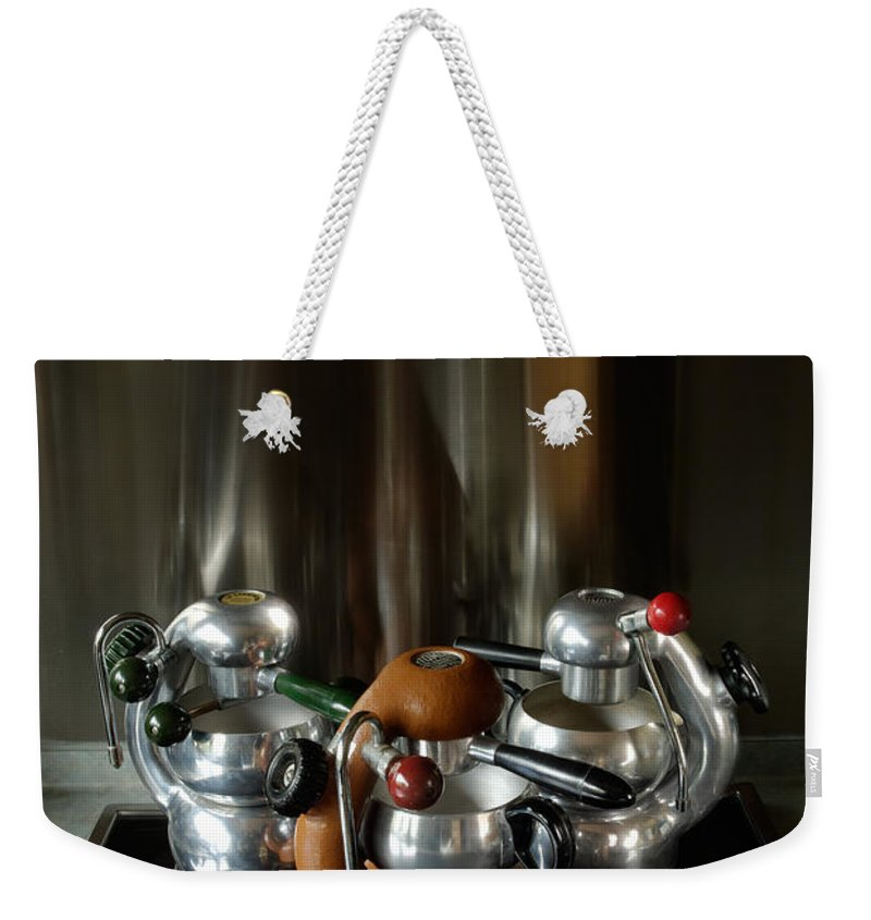 Atomic Weekender Tote Bag featuring the photograph Three Atomic 1 by Frank Kletschkus