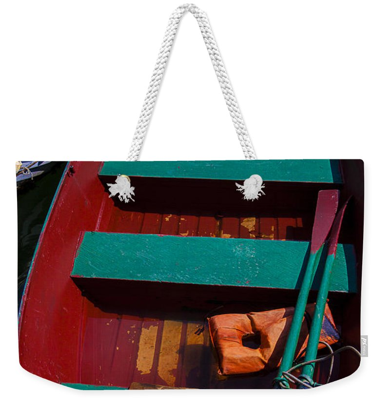 Three Weekender Tote Bag featuring the photograph Three Boats by Garry Gay