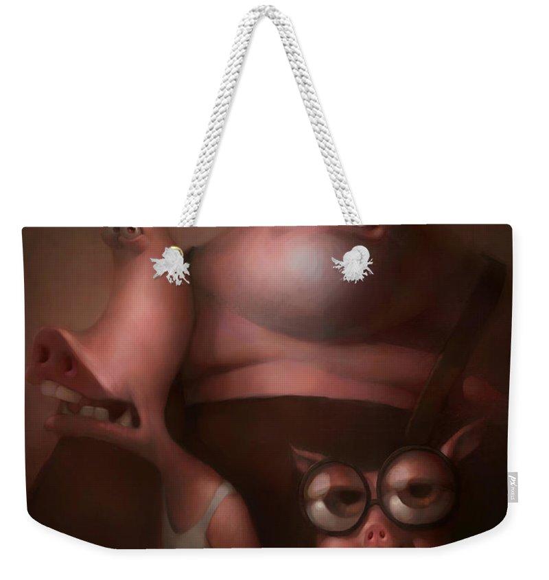 Pig Weekender Tote Bags