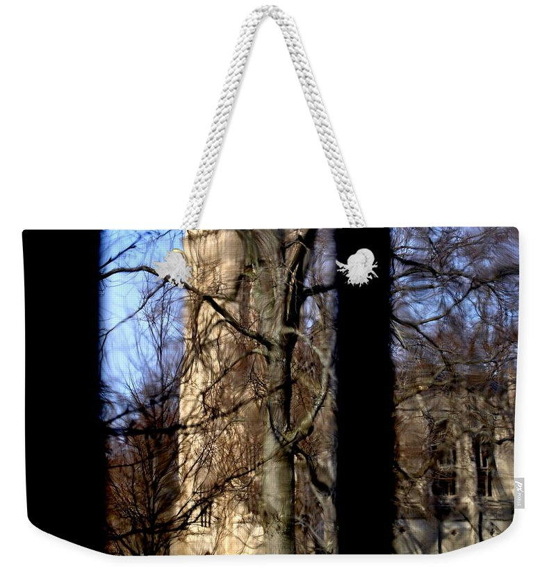 Groton School Weekender Tote Bag featuring the photograph Throgh The Window by Marysue Ryan