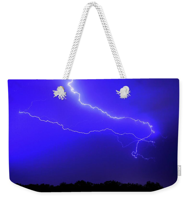 Thunderstorm Weekender Tote Bag featuring the photograph Thunderstorm In The Rain by Republica