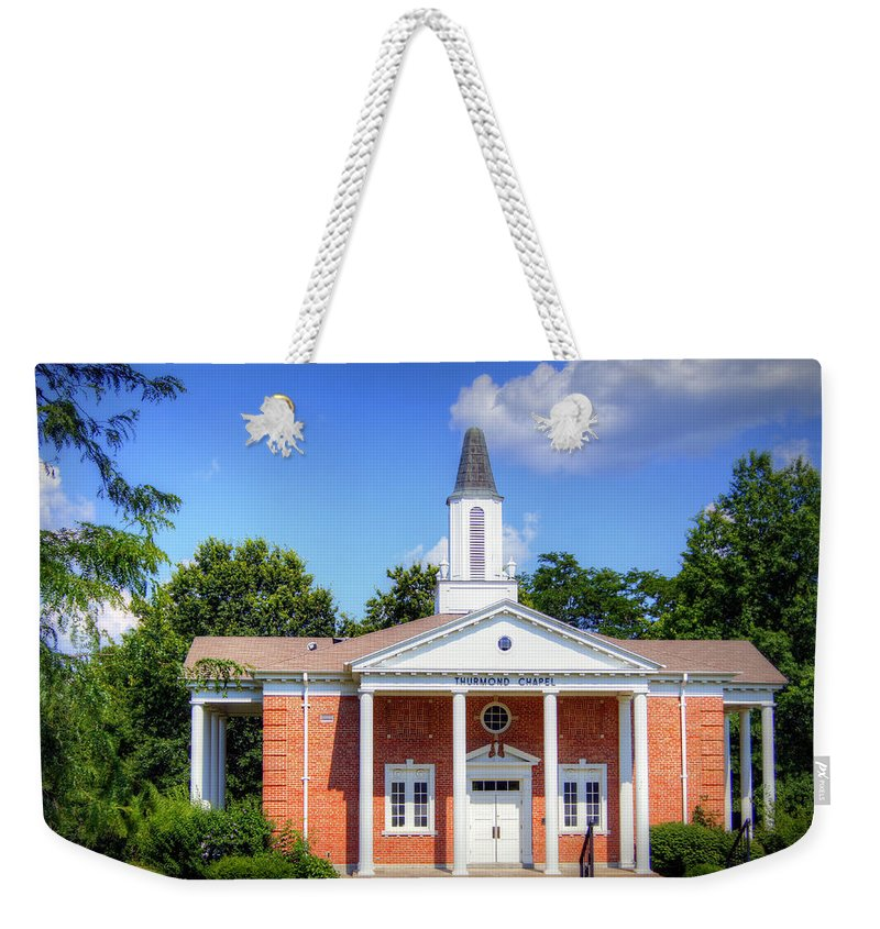 thurmond Chapel Weekender Tote Bag featuring the photograph Thurmond Chapel by Cricket Hackmann