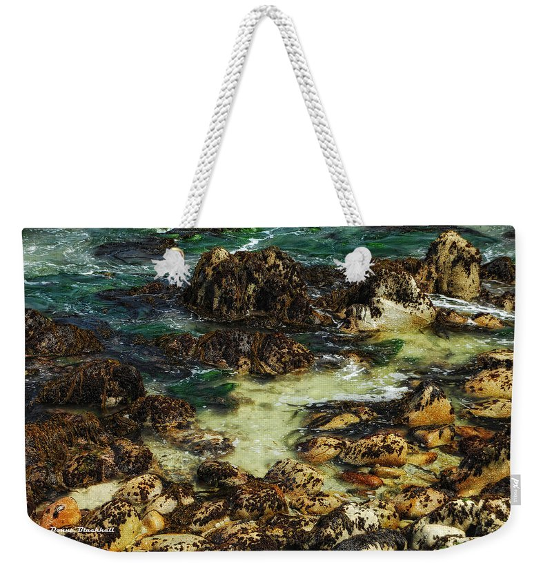 Monterey Weekender Tote Bag featuring the photograph Tidal Pools by Donna Blackhall