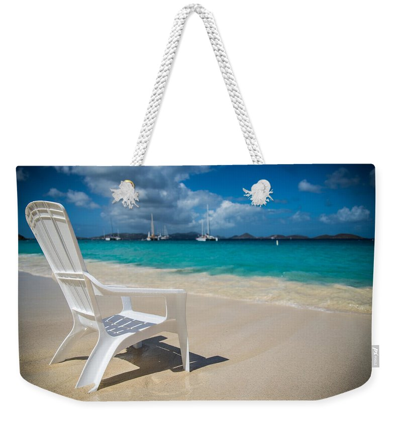 St. Johns Weekender Tote Bag featuring the photograph Tidal Seat by Kristopher Schoenleber