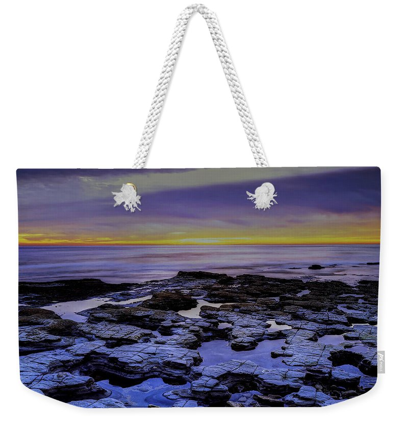 Tide Pools Weekender Tote Bag featuring the photograph Tide Pools by Ingrid Smith-Johnsen