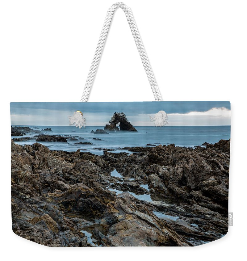 Little Corona Del Mar Weekender Tote Bag featuring the photograph Tide Pools by John Daly