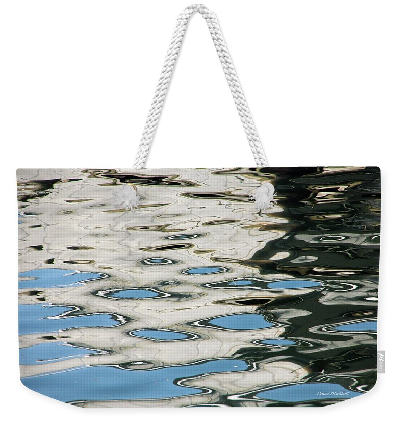 Water Weekender Tote Bag featuring the photograph Tide Pools On The Water by Donna Blackhall