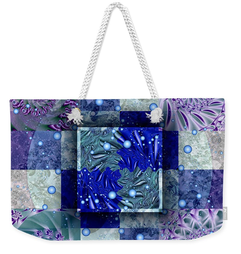 Tidepools Weekender Tote Bag featuring the digital art Tidepools by Kimberly Hansen