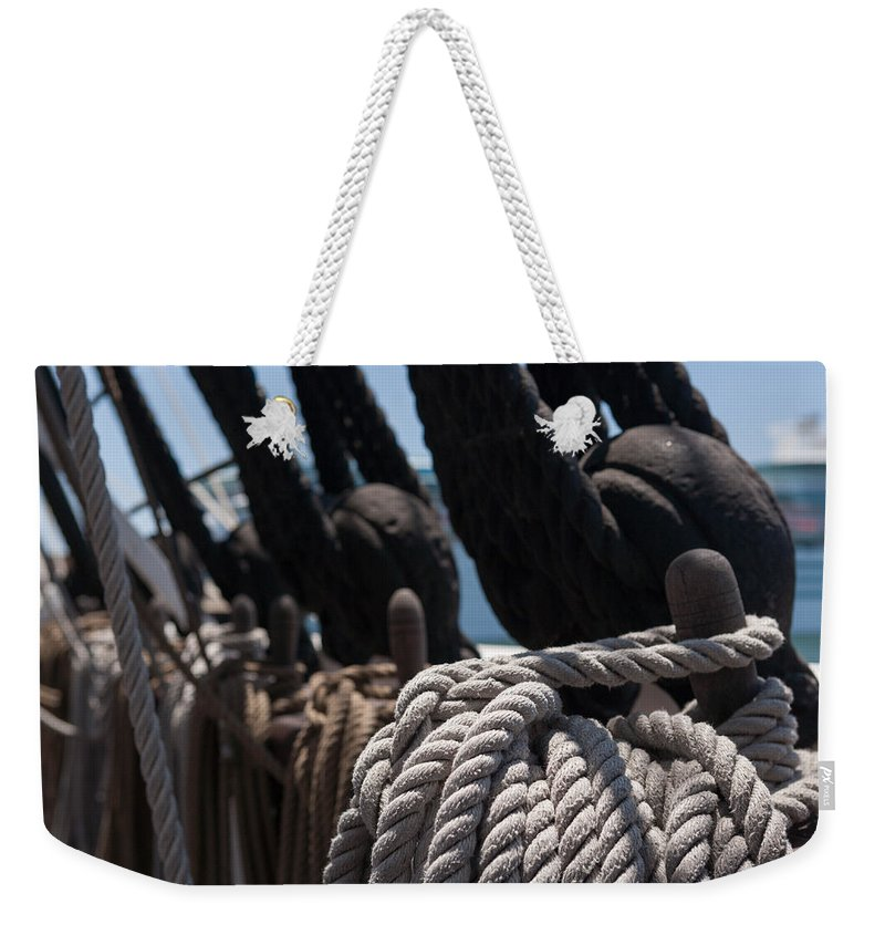 Rope Weekender Tote Bag featuring the photograph Tied Up by Scott Campbell