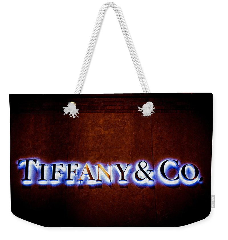 Tiffany & Co. Weekender Tote Bag featuring the photograph Tiffany And Co by Sennie Pierson