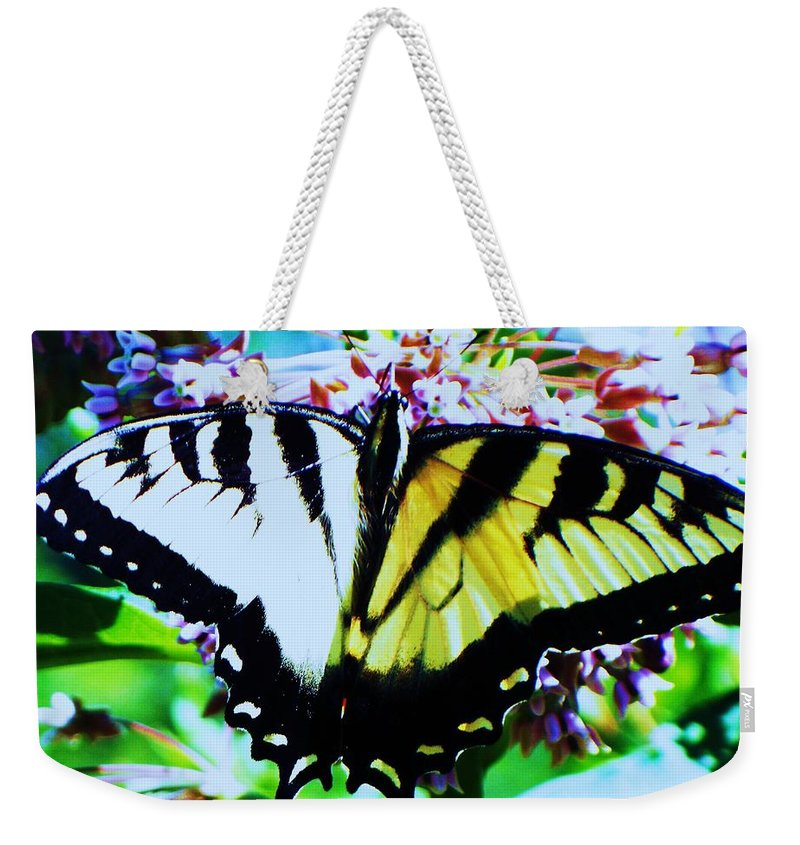 Butterfly Weekender Tote Bag featuring the photograph Tiger Swallowtail Butterfly by Eric Schiabor
