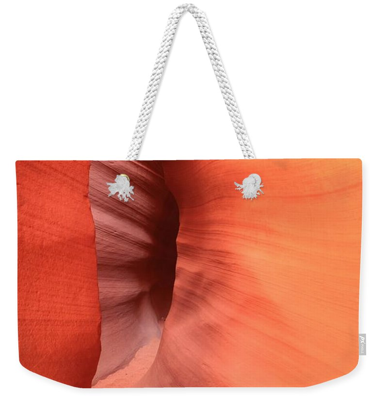Arizona Slot Canyon Weekender Tote Bag featuring the photograph Tight Bend by Adam Jewell