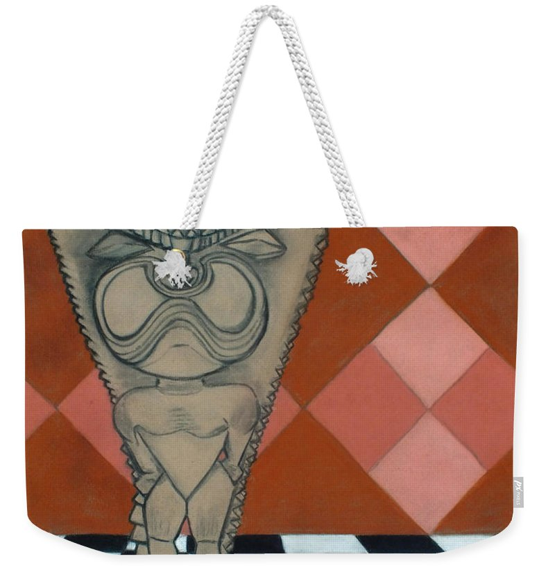Chris Mccullough Weekender Tote Bag featuring the photograph Tiki Statue Art by Chris McCullough