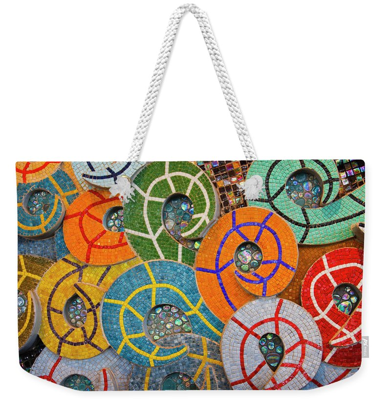 3scape Photos Weekender Tote Bag featuring the photograph Tiled Swirls by Adam Romanowicz