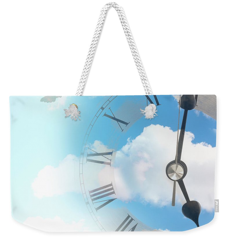 Time Weekender Tote Bag featuring the photograph Time Flies by Amanda Elwell