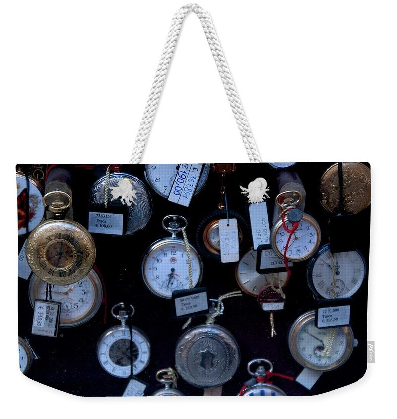 Time Weekender Tote Bag featuring the photograph Time Piece by Eric Tressler