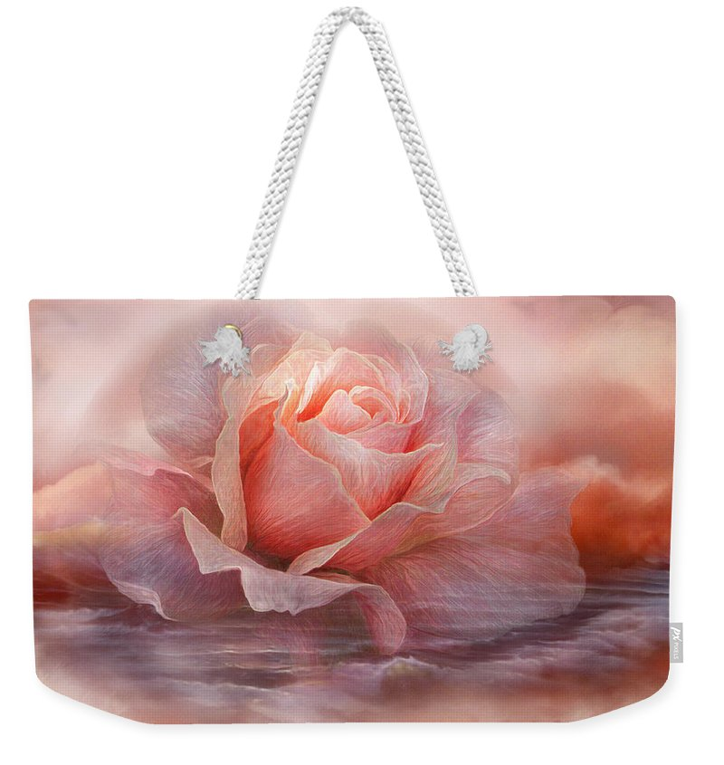 Rose Weekender Tote Bag featuring the mixed media Time To Say Goodbye Rose by Carol Cavalaris