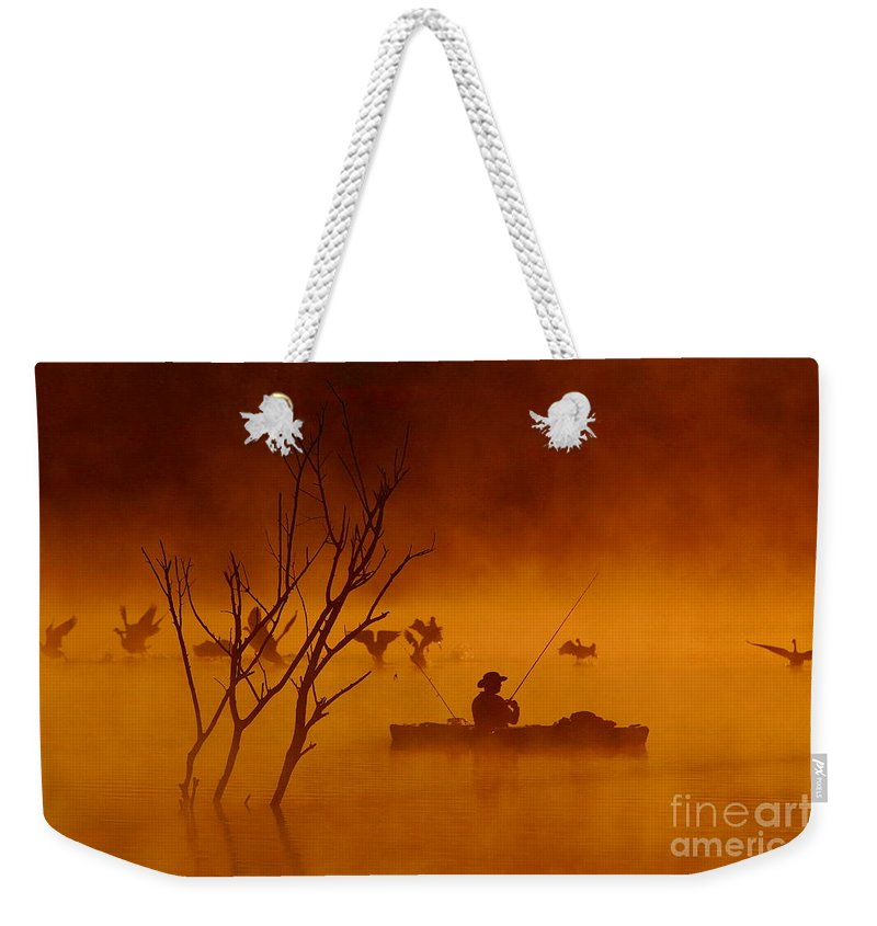 Sunrise Weekender Tote Bag featuring the photograph Time To Spread My Wings And Fly by Elizabeth Winter