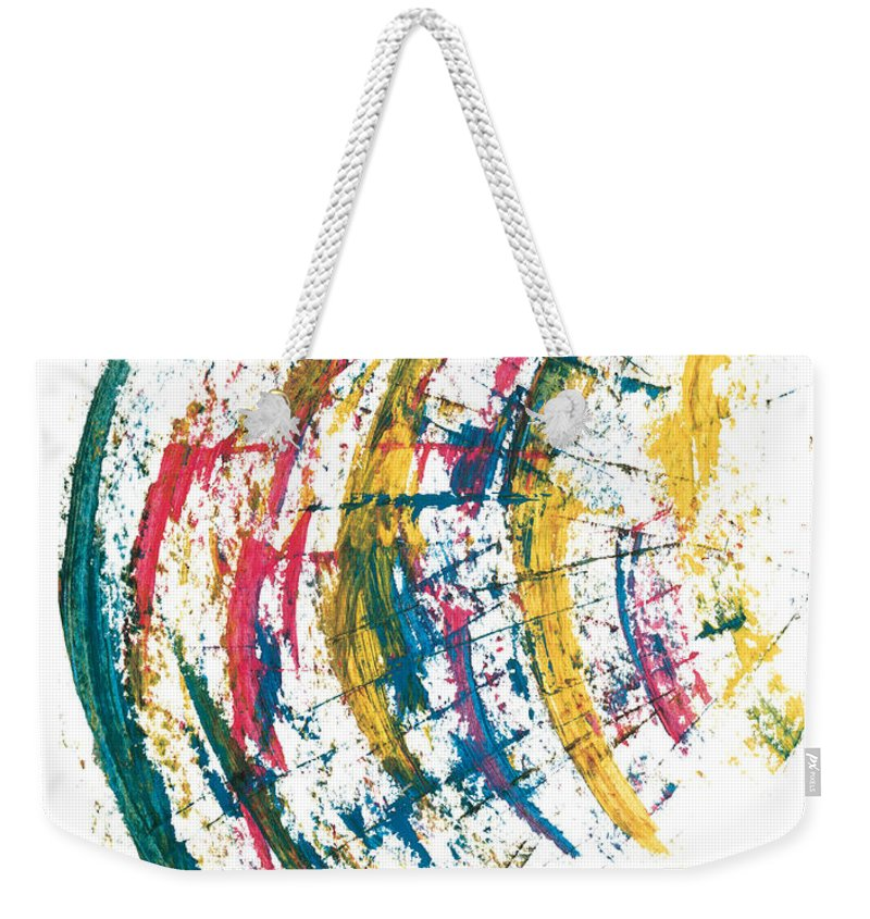 Contemporary Weekender Tote Bag featuring the painting Time Travel by Bjorn Sjogren
