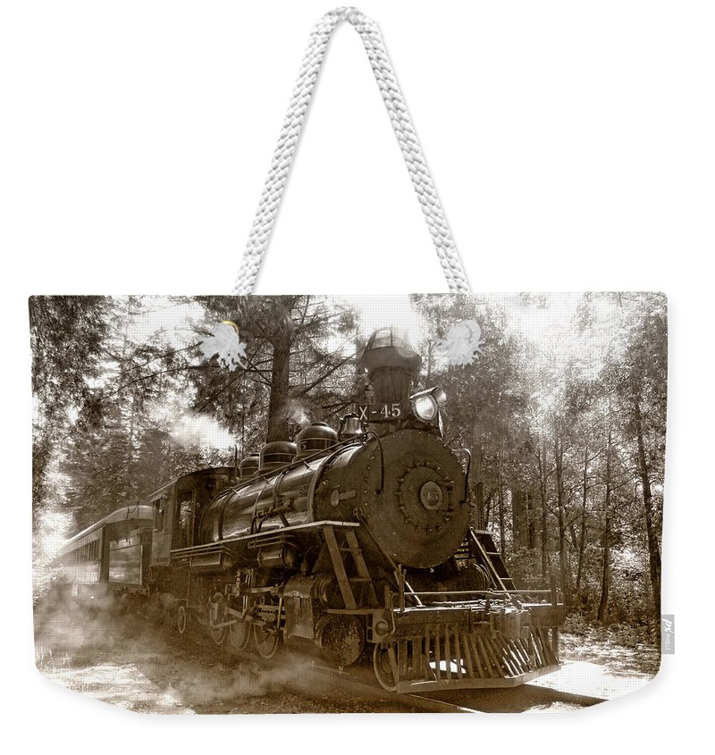 Locomotive Weekender Tote Bag featuring the photograph Time Traveler by Donna Blackhall