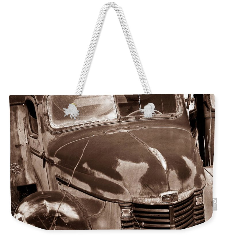 Weekender Tote Bag featuring the photograph Time Traveler Pennsylvania Ave Wilkes Barre Pa by Arthur Miller