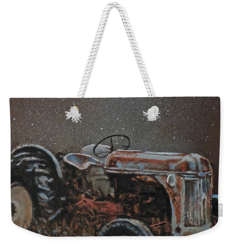 Tractors Weekender Tote Bag featuring the painting Timeless by Mia DeLode