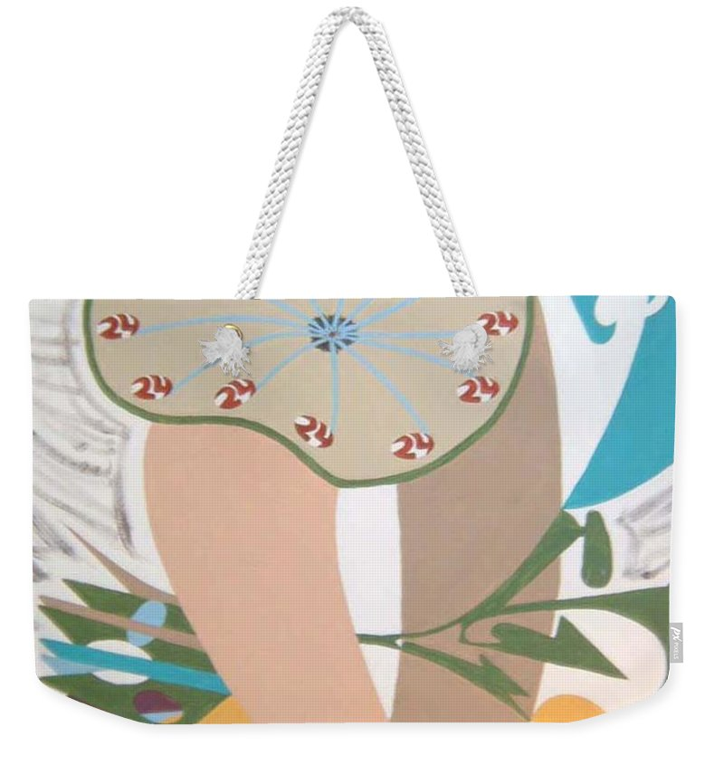 Abstract Weekender Tote Bag featuring the painting Times Up by Dean Stephens