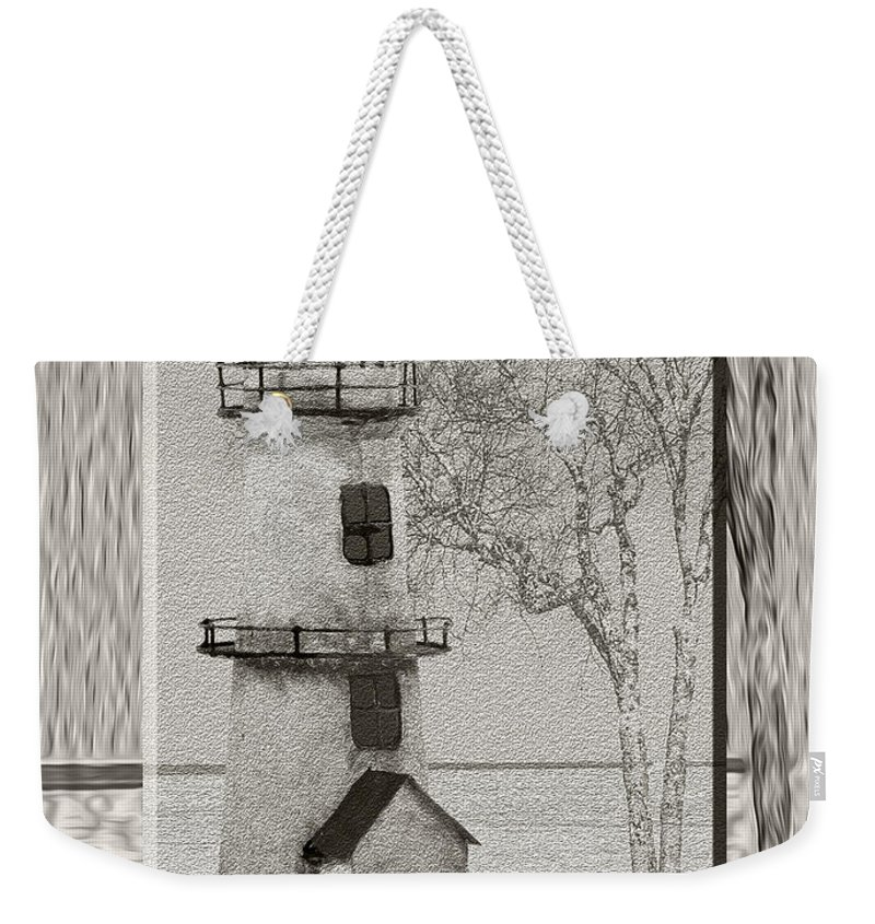 Usa Weekender Tote Bag featuring the photograph Tin Lighthouse Art by LeeAnn McLaneGoetz McLaneGoetzStudioLLCcom