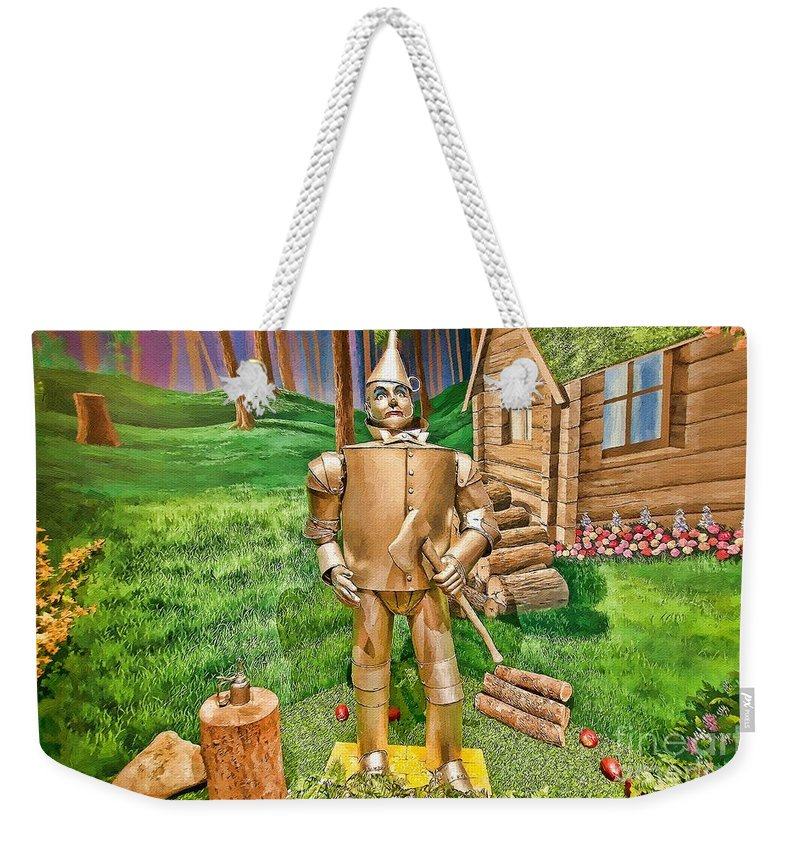 Liane Wright Weekender Tote Bag featuring the painting Tin Man by Liane Wright