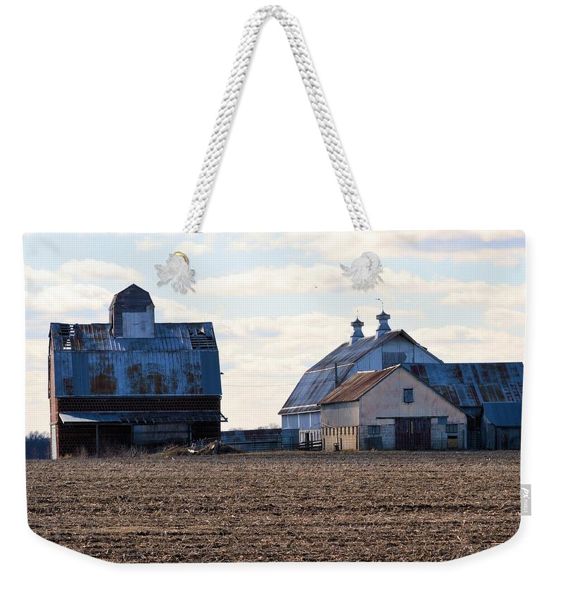 Farm Weekender Tote Bag featuring the photograph Tin Roof Farm by Bonfire Photography
