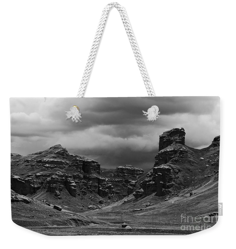 Peru Weekender Tote Bag featuring the photograph Tinajani Canyon Near Puno Peru by James Brunker