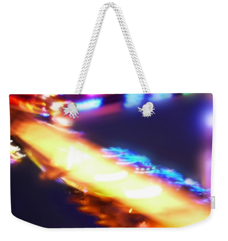 Tingler Weekender Tote Bag featuring the painting Tingler by Charles Stuart