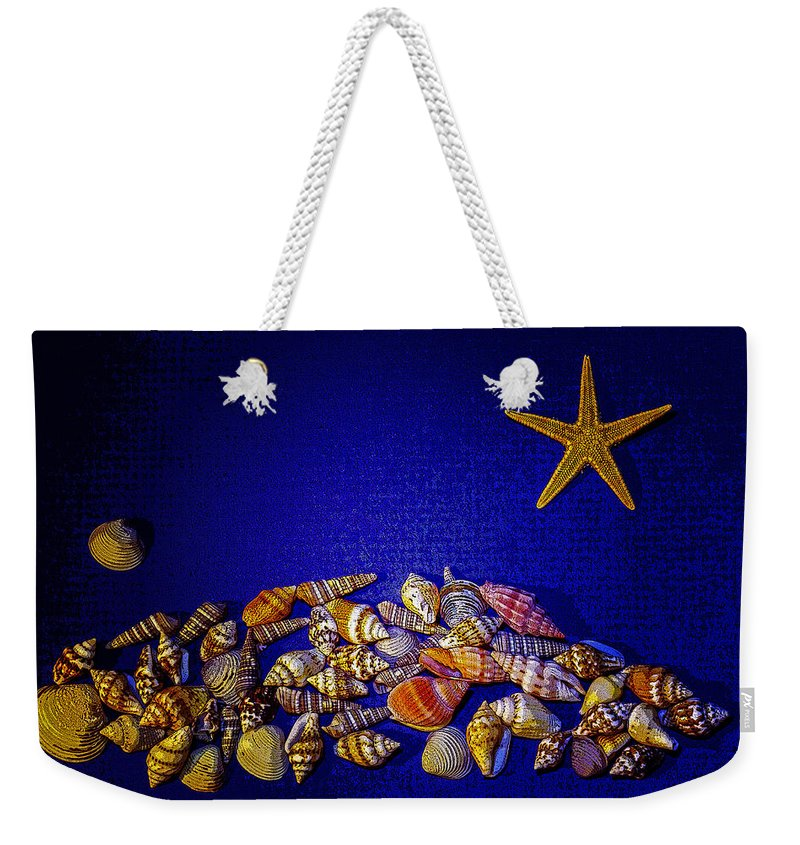 Sea Shells Weekender Tote Bag featuring the photograph Tiny Sea Shells by Robert Storost
