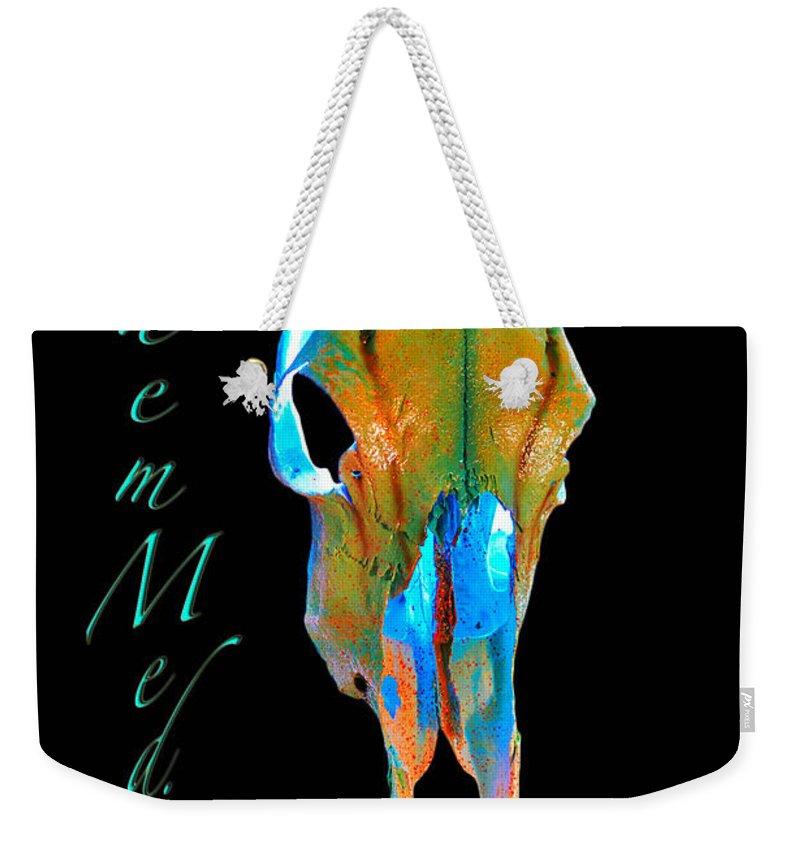 Skulls Weekender Tote Bag featuring the digital art Tips by Mayhem Mediums