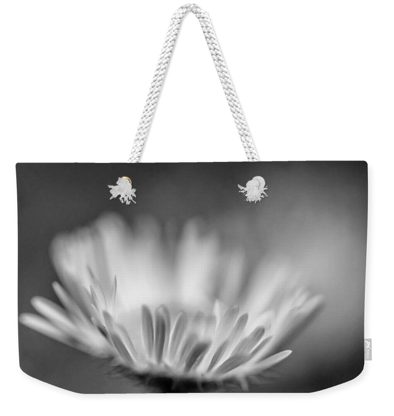 Macro Weekender Tote Bag featuring the photograph Tis But A Dream 2 Monochrome by Steve Harrington