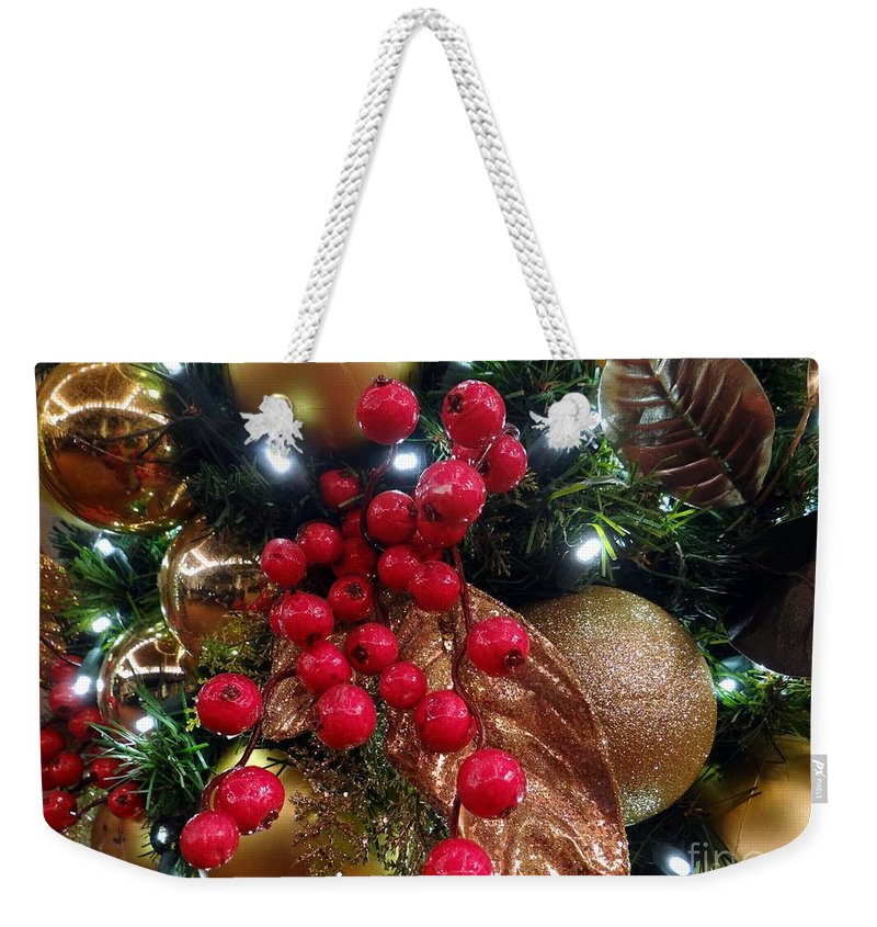Christmas Decorations Weekender Tote Bag featuring the photograph Tis The Season by Ed Weidman