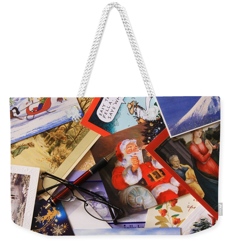 Holiday Card Weekender Tote Bag featuring the photograph Tis The Season by Joe Kozlowski