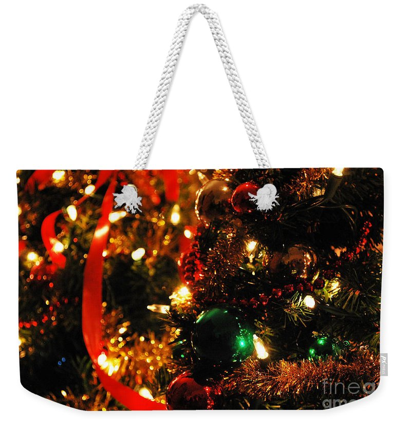 Ornaments Weekender Tote Bag featuring the photograph Tis The Season by Nancy Mueller