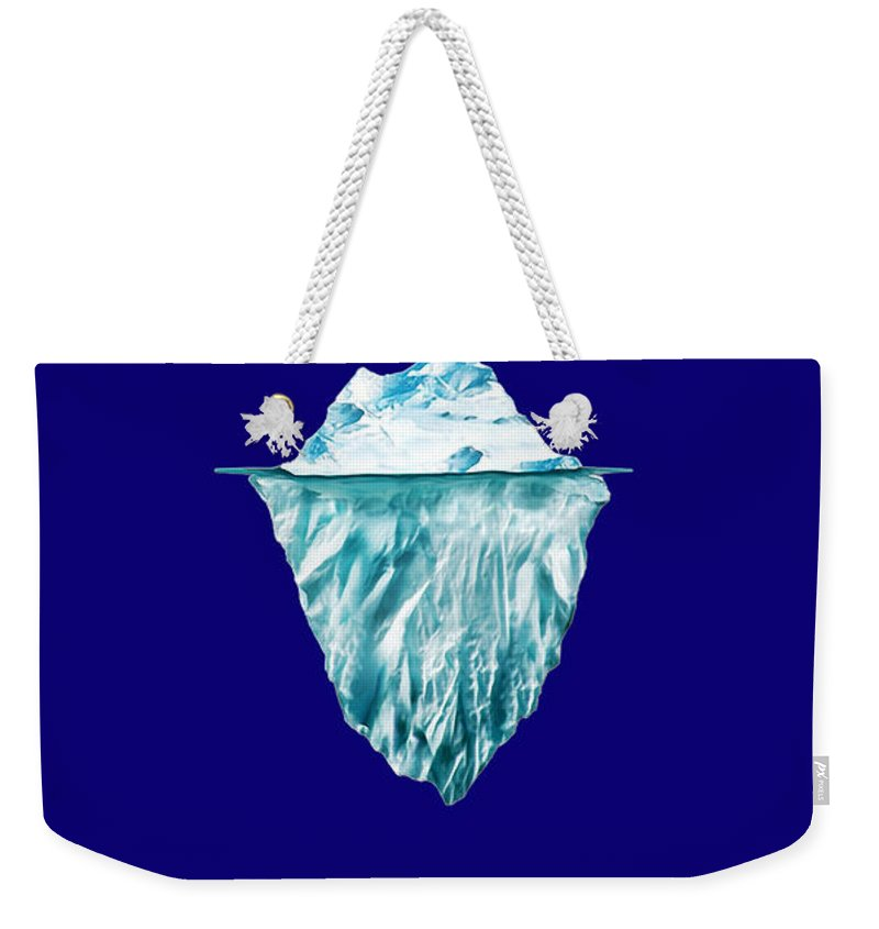 Home Weekender Tote Bag featuring the mixed media Titanic by Marvin Blaine