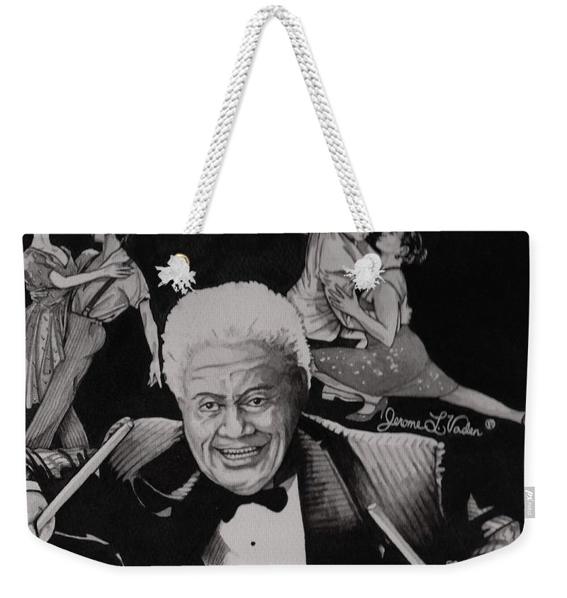 Latin Jazz Weekender Tote Bag featuring the painting Tito Puente by JL Vaden
