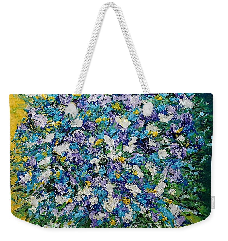 Landscape Weekender Tote Bag featuring the painting To Have And Delight by Allan P Friedlander