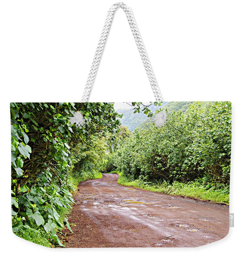 Maui Weekender Tote Bag featuring the photograph To Seclusion by Marilyn Wilson