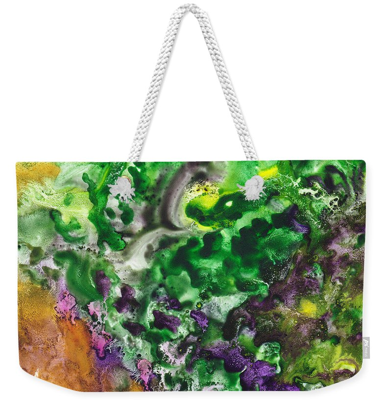 Abstract Weekender Tote Bag featuring the painting To The Unknown Abstract Path Number Four by Irina Sztukowski