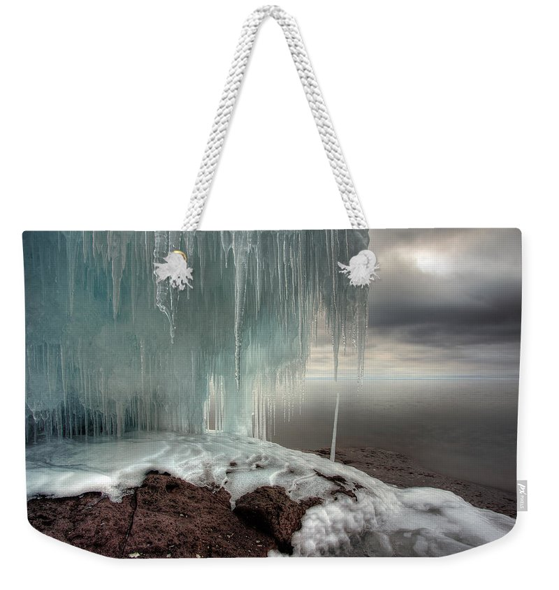 Blue Hour Weekender Tote Bag featuring the photograph Tofte Oce Formations IIi by Jakub Sisak