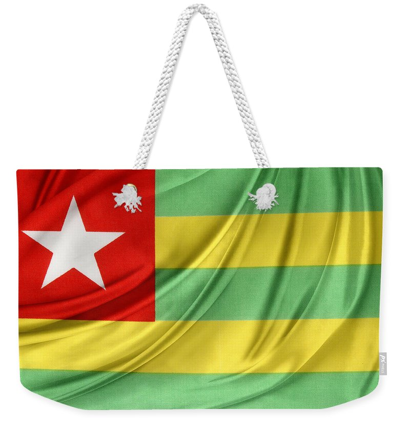 Color Weekender Tote Bag featuring the photograph Togo Flag by Les Cunliffe
