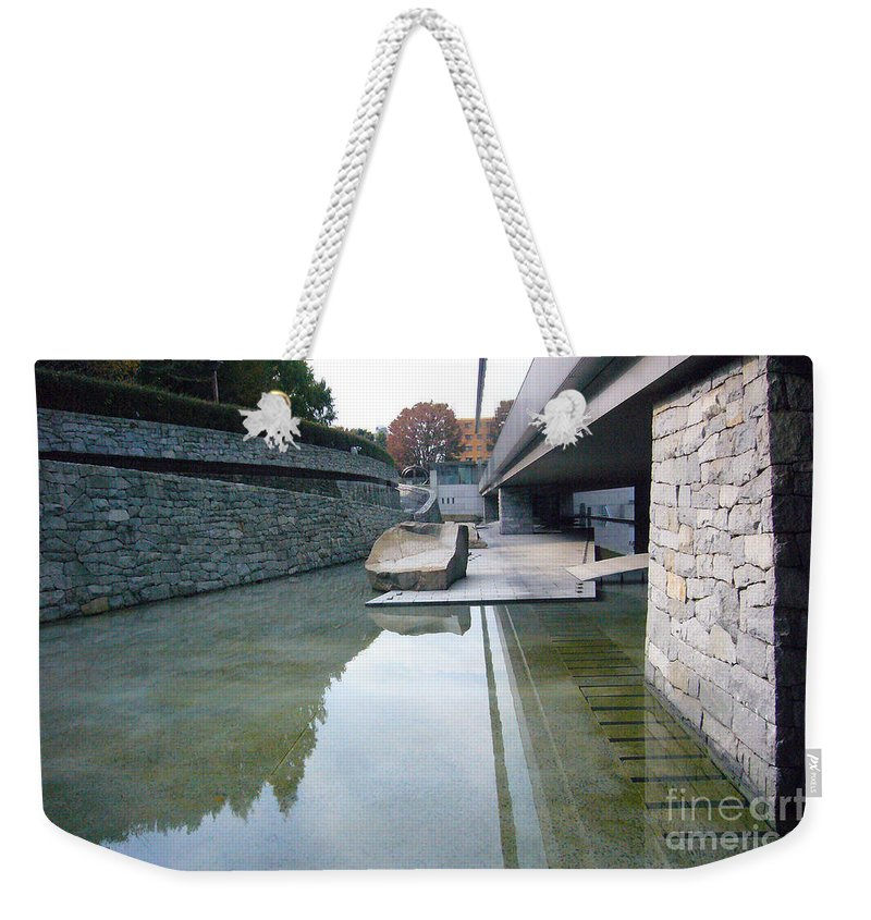 Tokyo Weekender Tote Bag featuring the photograph Tokyo Museum Landscape by To-Tam Gerwe