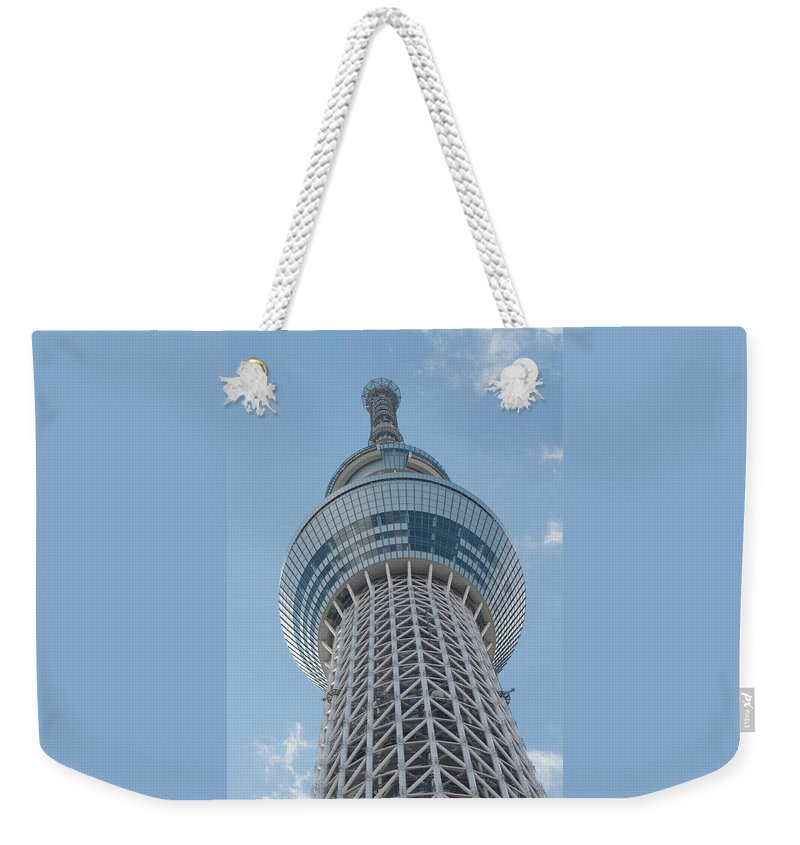 Architecture Weekender Tote Bag featuring the photograph Tokyo Skytree by Jill Mitchell
