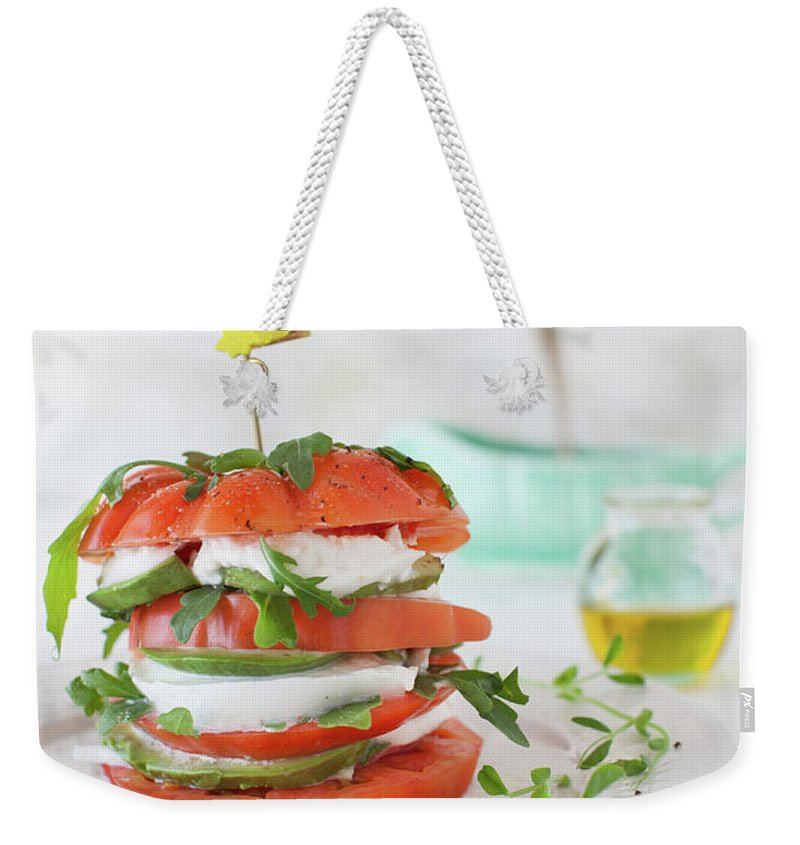 Newtown Weekender Tote Bag featuring the photograph Tomato Salad by Yelena Strokin