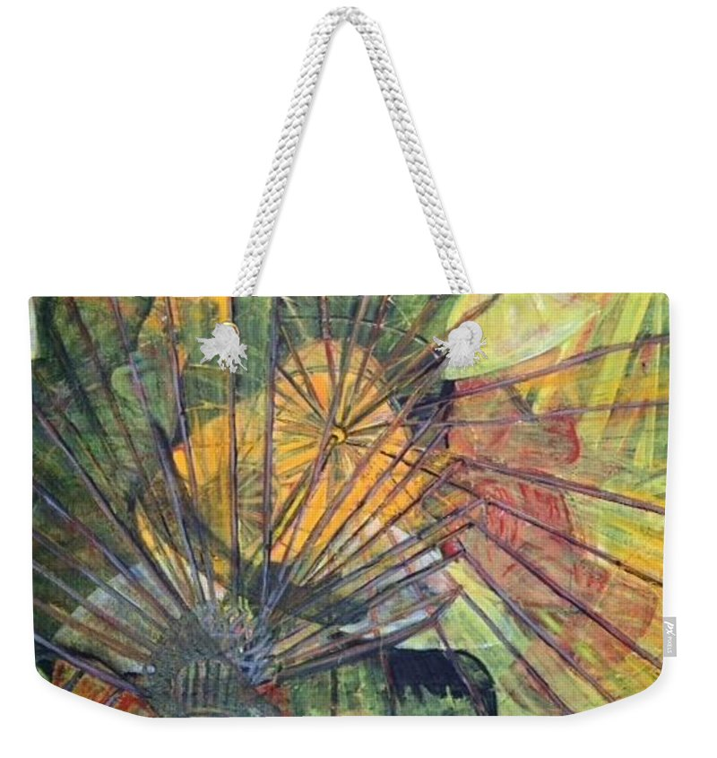 Village In China Weekender Tote Bag featuring the painting Tongli Town by Peggy Blood