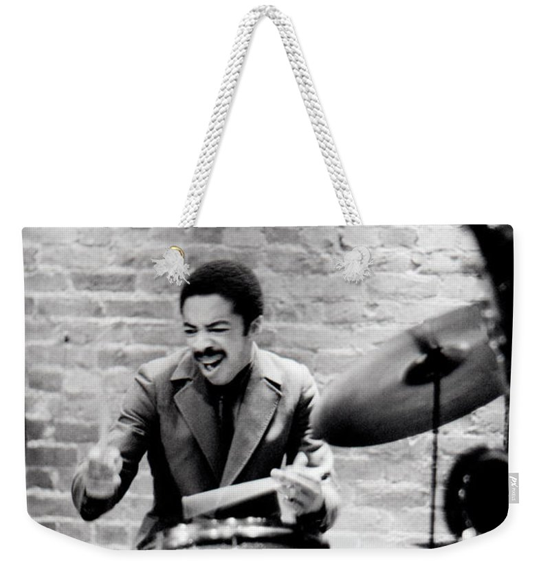 Drummer Weekender Tote Bag featuring the photograph Tony Williams At The Penthouse by Dave Coleman